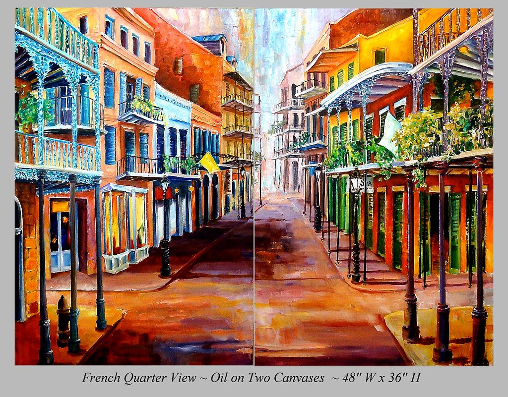 French Quarter View Diane Millsap New Orleans Art By