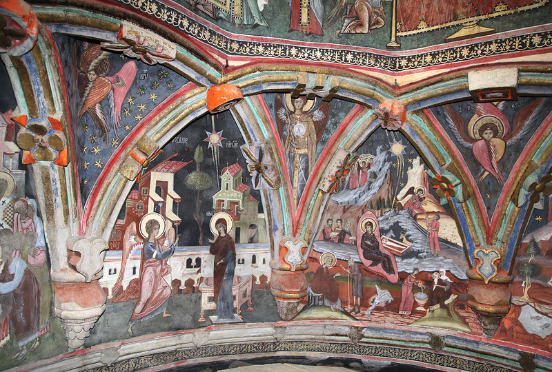 Dragomirna Church's 17th Century Frescoes, Suceava, ROMANIA