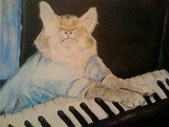 Keyboard Cat, Acrylic on Canvas (upclose) | by budcaddell