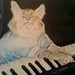 Keyboard Cat, Acrylic on Canvas (upclose)