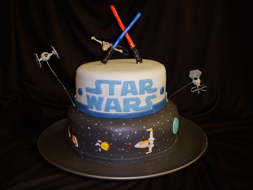 Star Wars Birthday Cake This Was Done For A 6year Old S