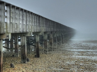 Low tide and fog - Powder Point Bridge | by joiseyshowaa