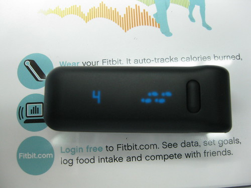 Showing steps | by fitbit inc