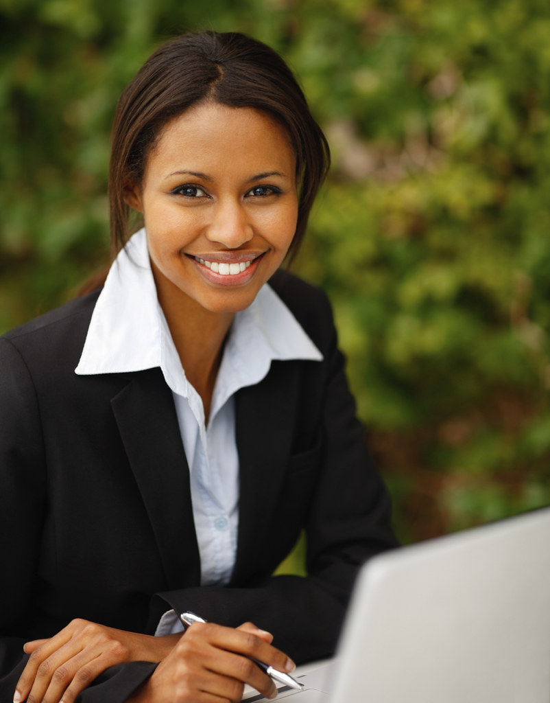 Confident Happy Young African American Business Woman Flickr