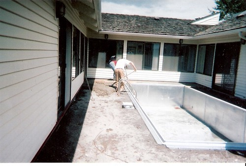 Pool deck and drain