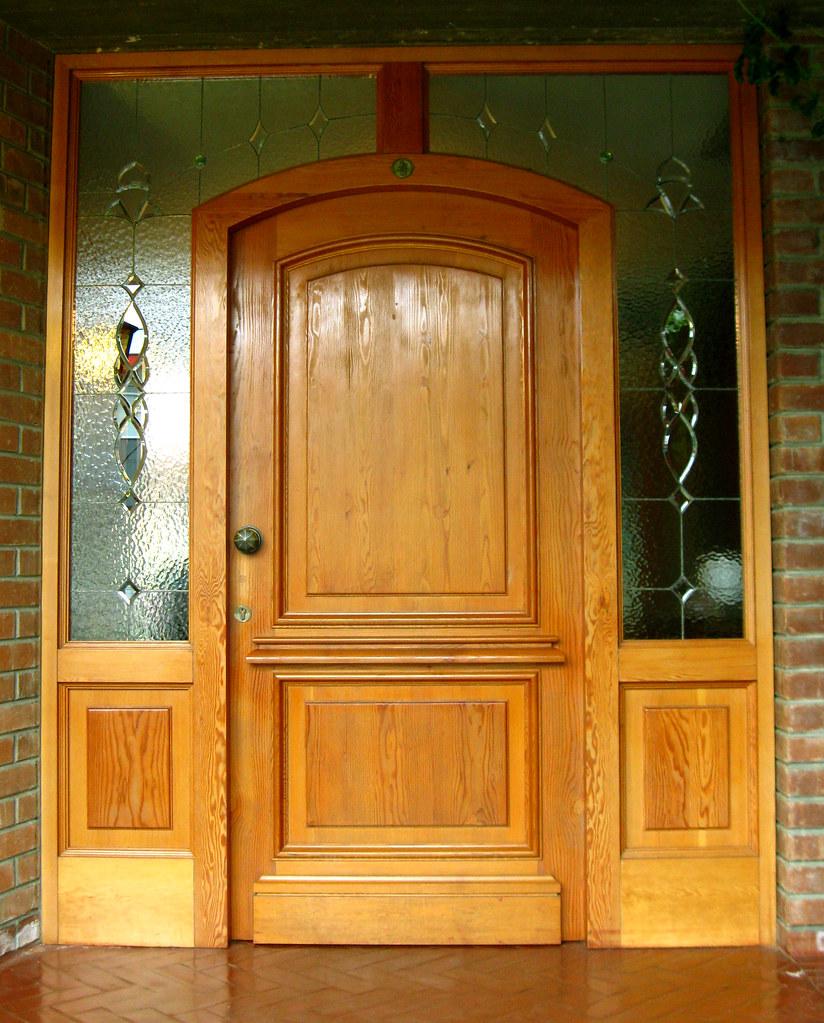 Puerta de acceso principal de pino oregon americano flickr for Puertas de acceso principal