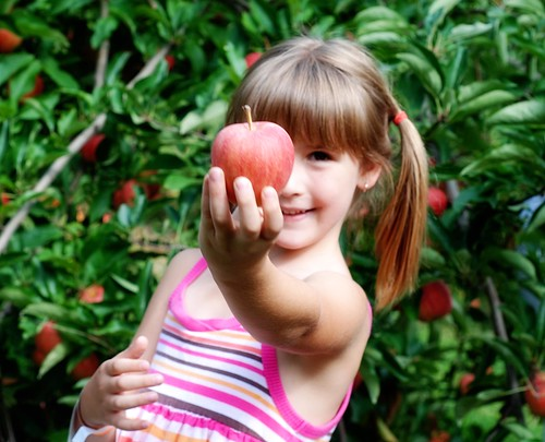 Anna with an apple | by I Should Be Folding Laundry