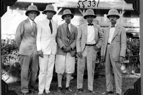 Expedition members, all wearing ties | by The Field Museum Library