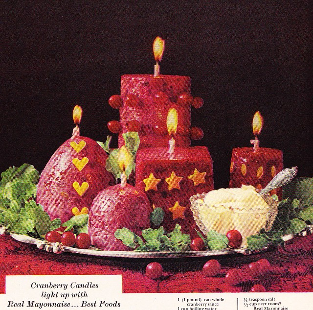 Best Foods Mayonnaise Ad 1960s with Jello Molds