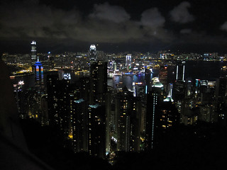 Hong Kong night skyline from The Peak | by carlossg