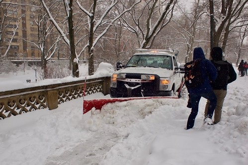 Snowploughing Central Park | by clagnut
