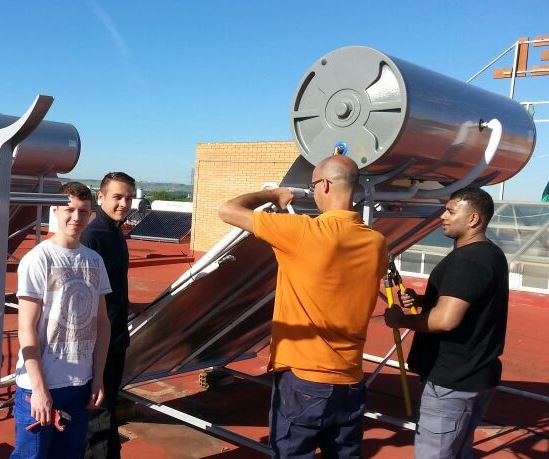 Learners on placement in Seville