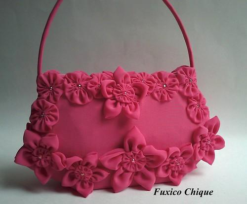 Bolsa De Mão Rosa Pink : Bolsa de m?o rosa pink elo fuxicochique flickr