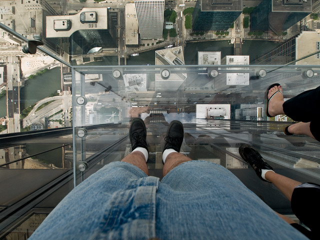 Glass Bottom Floor Yes Those Are My Feet Pointed The