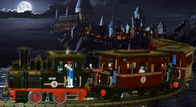 Playmobil Harry Potter Tren Train Custom 3 Goonies Never
