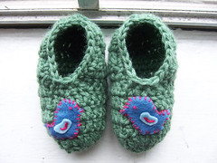 bird slippers | by Lisa | goodknits