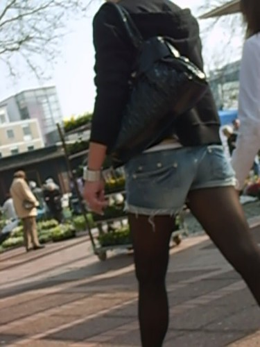blonde tr gt eine schwarze strumpfhose mit jeans hotpans 5 by. Black Bedroom Furniture Sets. Home Design Ideas