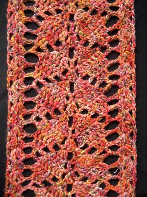 Branching Leaves Scarf | Free Pattern: www.craftster.org/for… | Flickr