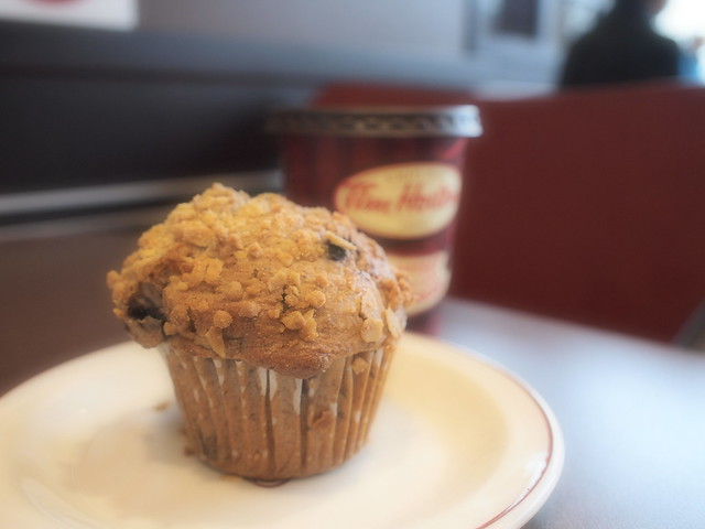blueberry oatmeal muffin at tim hortons flickr photo. Black Bedroom Furniture Sets. Home Design Ideas