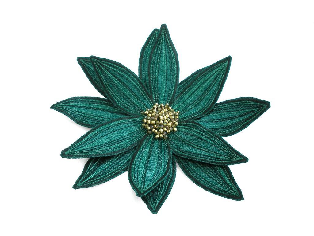 Lotus Flower Lariat Teal Green Teal Green Silk Dupioni Fr Flickr