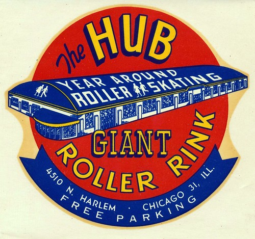 The Hub Roller Rink - Chicago, Illinois | by The Cardboard America Archives