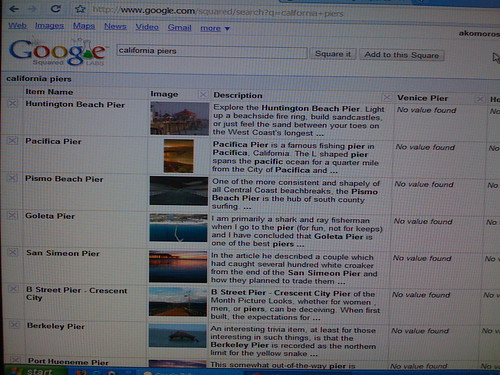 Google Squared Screenshot | by search-engine-land