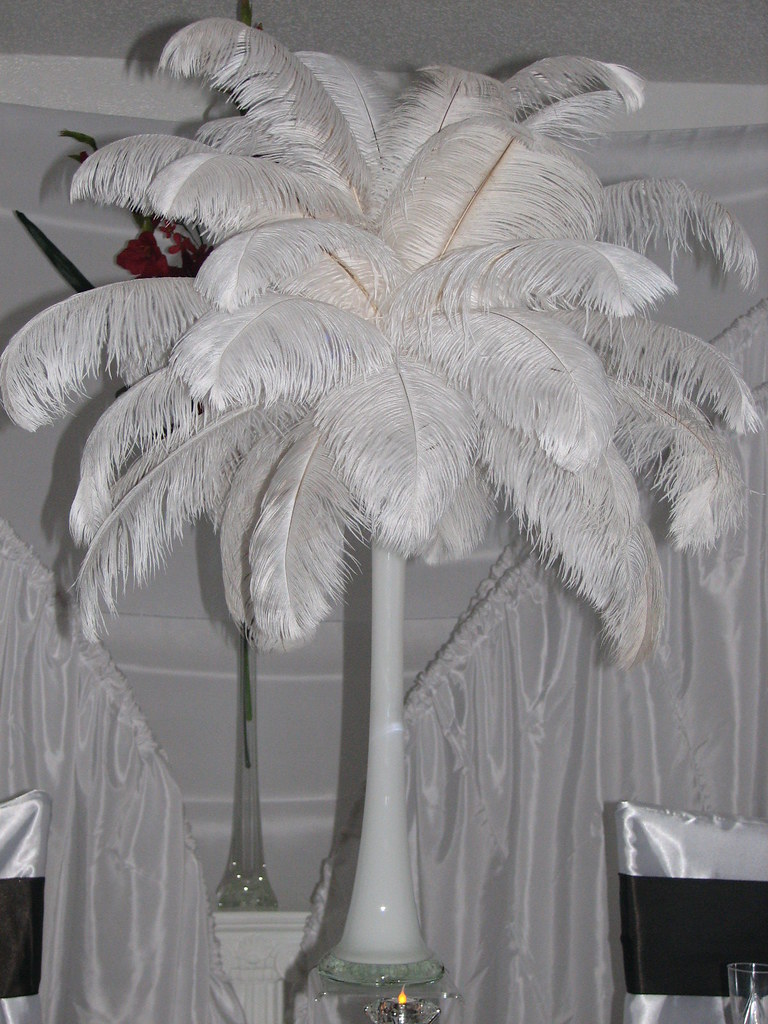 Ostrich feather ideas wedding decoration f
