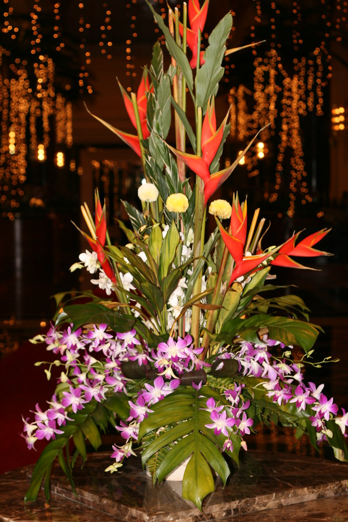 Flower Arrangements In Hotel Kuala Lumpur Malaysia Flickr