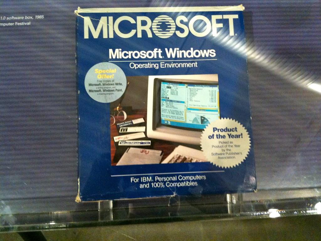 original microsoft windows 1 0 software box