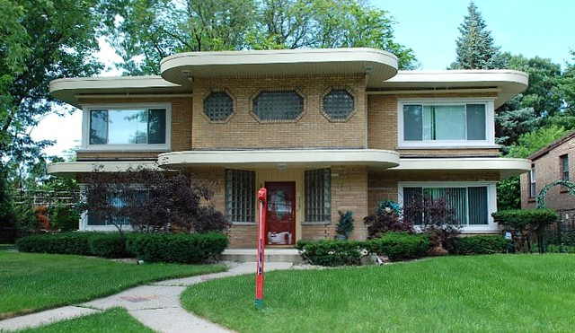 Art Moderne style house, Maywood, Illinois | Flickr - Photo Sharing!