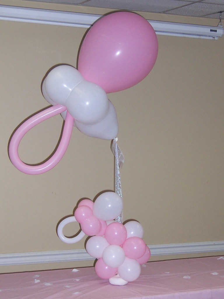 Pacifier centerpiece bama balloons flickr