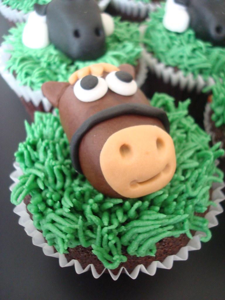Neigh Horse Cupcake For Boys Farm Themed Birthday Party
