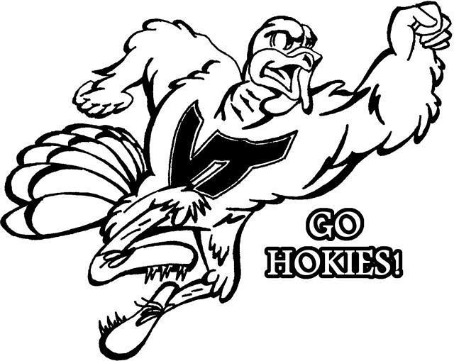 hokie bird coloring pages - photo#3