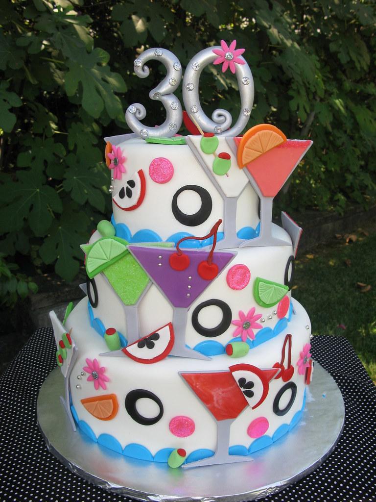 Martini Birthday Cake Visit Thecakemamas To View O Flickr