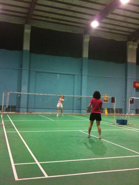 badminton spiel