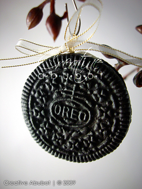 faux oreo cookie ornaments