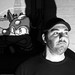 Art + Artists: Megaman 9 Intro (Detail) by Adam Shub + Adam Shub, Brooklyn Art Project Meetup 2009-10-01 / 20091001.10D.55016.P1.L1.SQ.BW / SML