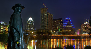 Stevie Ray Vaughan and Austin Skyline (HDR) | by Knowsphotos