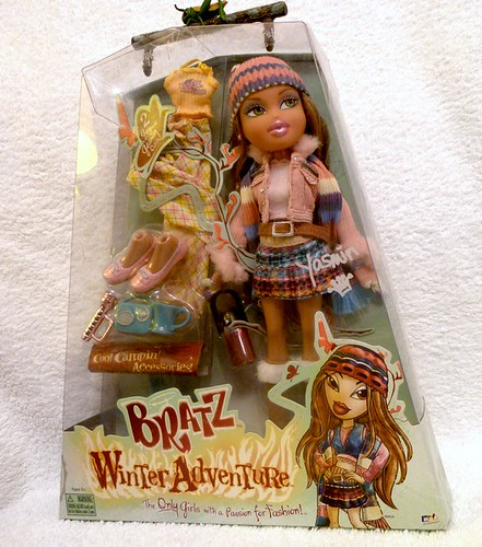 bratz winter adventure campfire yasmin doll box front