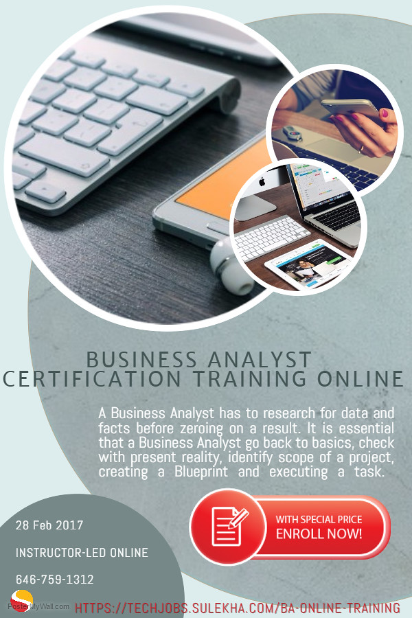 Business Analyst Certification Training Online Business An Flickr