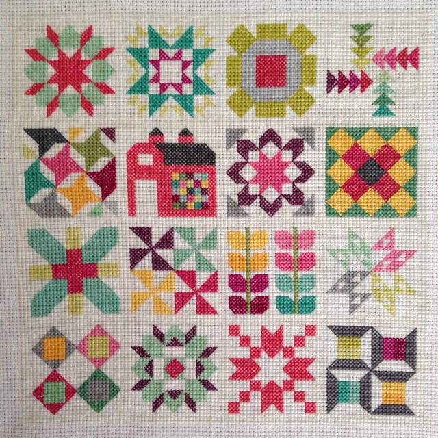Quilty Stitches Cross-stitch Sampler
