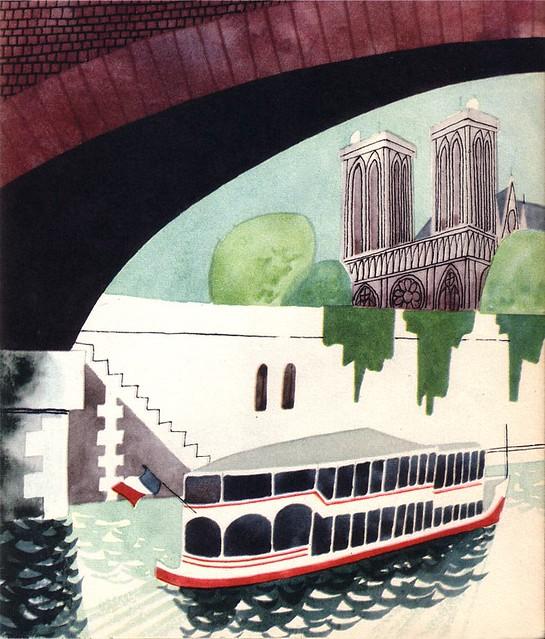 Bateau mouche dessin extrait d 39 un livre de mon enfance - Dessin d un bateau ...