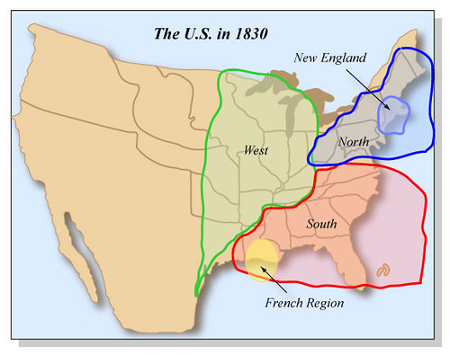 The US In Cultural Regions Such As North South An Flickr - 1830 us map