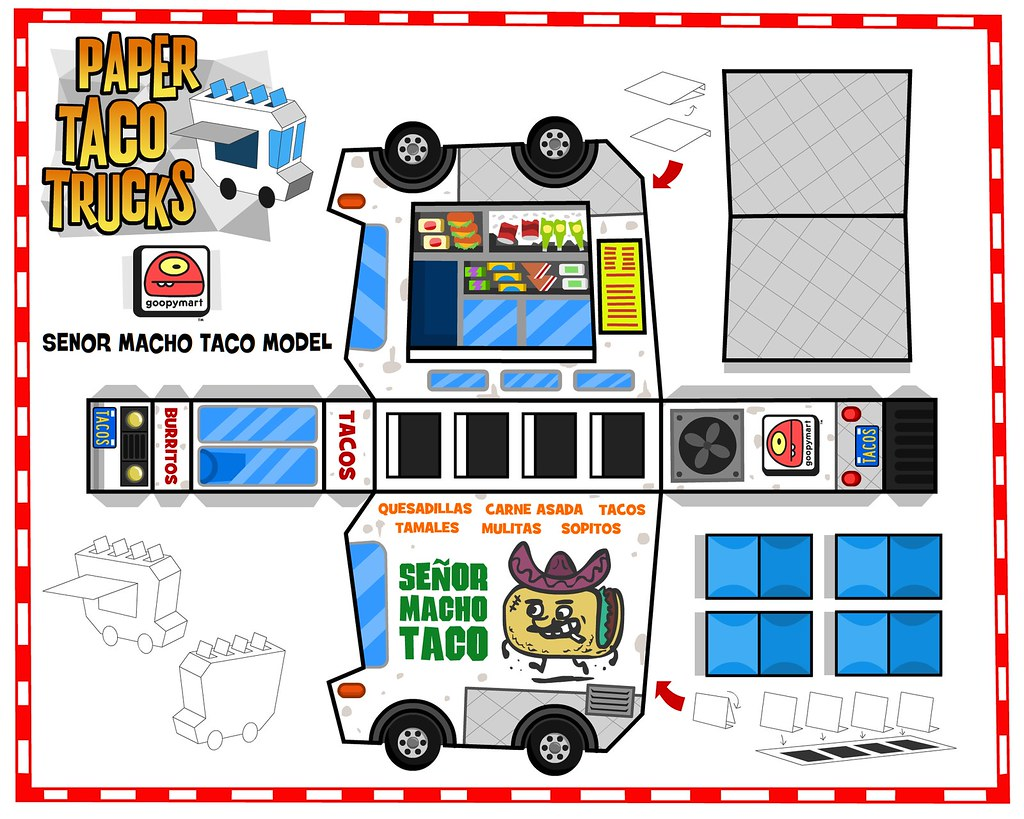 Paper Taco Truck 01 Click On All Sizes Button Above And