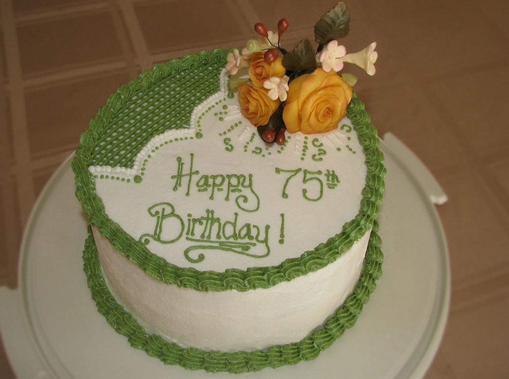 75th Birthday Cake Meghan Barkley Flickr