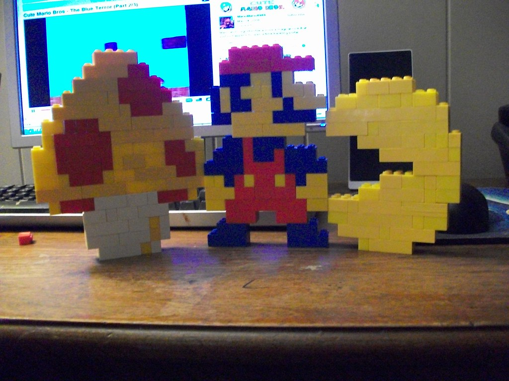 Lego mushroom, Mario, and Pacman   built from YouTube ...