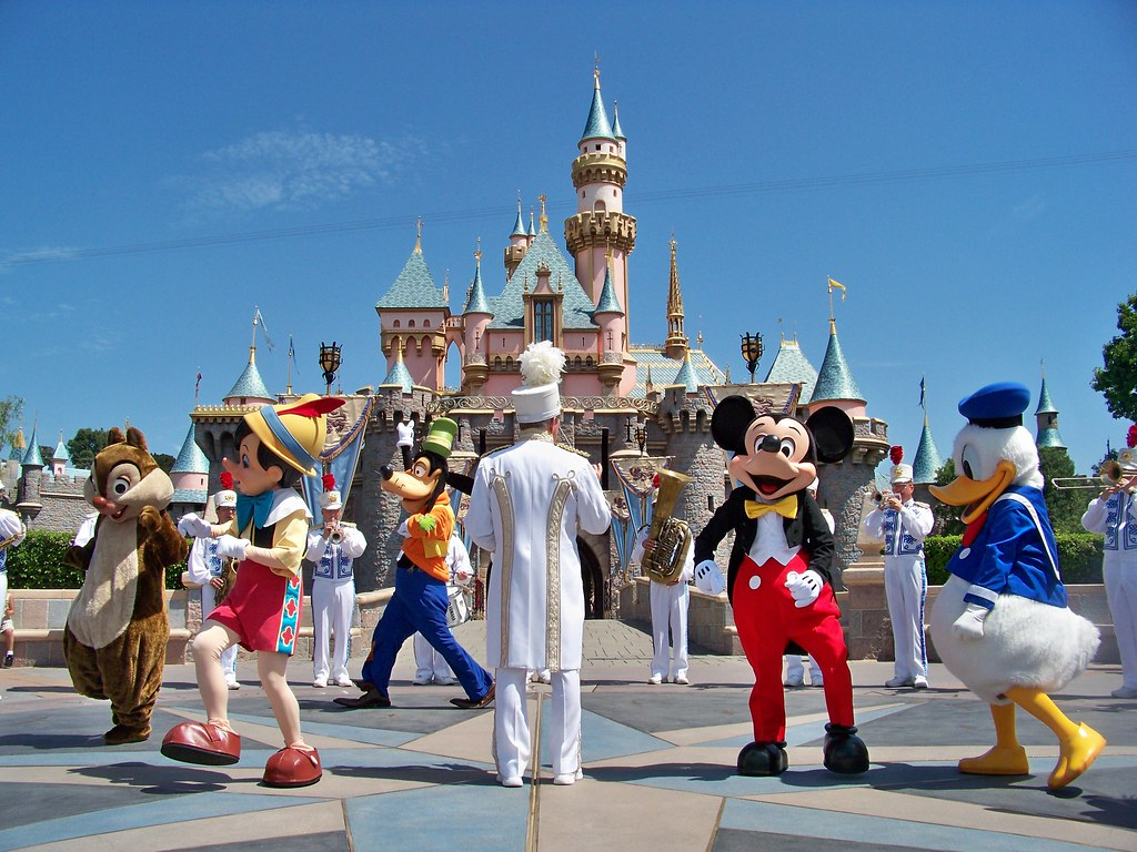 Mickey Amp Friends And The Disneyland Band In Front Of Sleep
