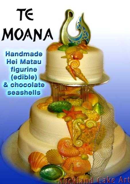 MAORI NEW ZEALAND WEDDING CAKE all edible Hei Matau fish Flickr