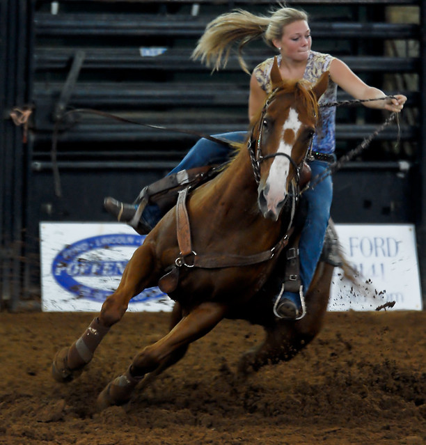 Barrel Racing At The 2nd Annual Silver