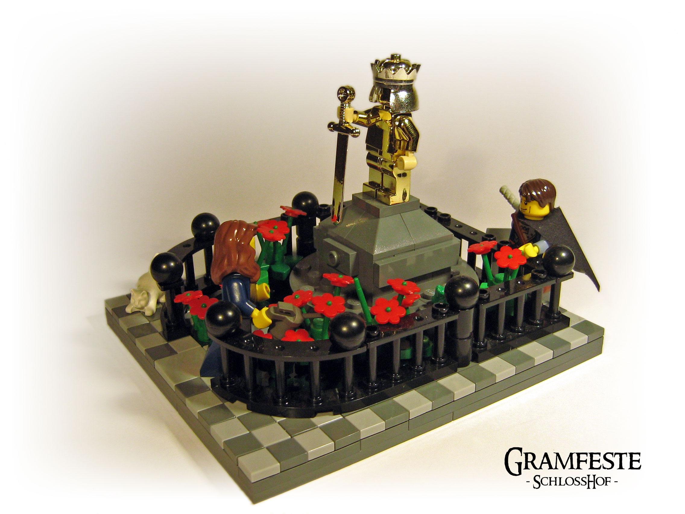 Statue des verstorbenen Kaisers